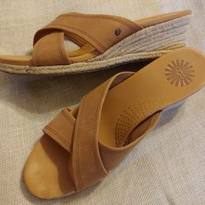 UGG Nude Wedge Slip On Sandal